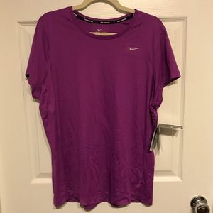 BNWT 1X Purple Nike Miler Short-Sleeve Running Tee